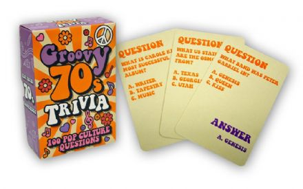 1970's Groovy Trivia Card Game